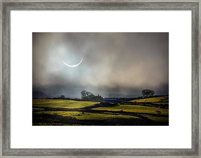 Solar Eclipse Over County Clare Countryside Framed Print