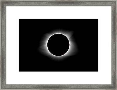 Solar Eclipse Ring Of Fire Framed Print