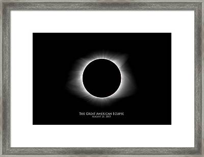 Framed Print featuring the photograph Solar Eclipse Ring Of Fire With Text by Lori Coleman