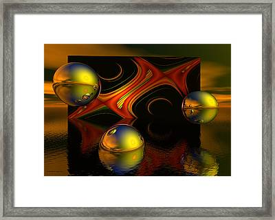 Solar Eclipse Framed Print by Sandra Bauser Digital Art
