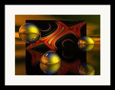 Fractal Eclipse Framed Prints