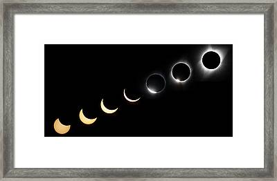 Solar Eclipse Sequence Framed Print