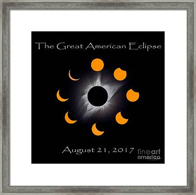 Solar Eclipse Stages Framed Print