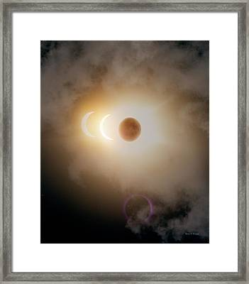 Solar Eclipse Three Images Framed Print