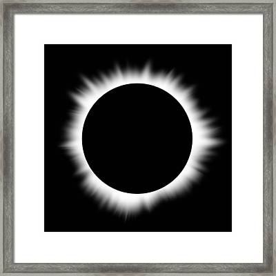 Solar Eclipse With Corona Framed Print