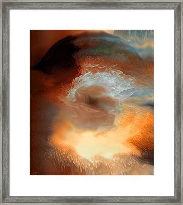 Solar Eruption Framed Print by Linda Sannuti
