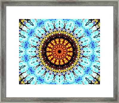 Framed Print featuring the digital art Solar Flare 1 by Wendy J St Christopher