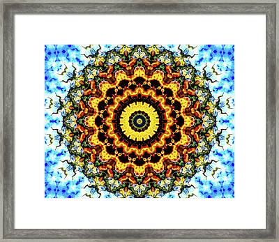 Framed Print featuring the digital art Solar Flare 2 by Wendy J St Christopher