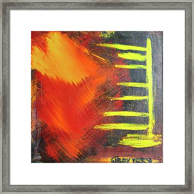 Solar Flare Framed Print