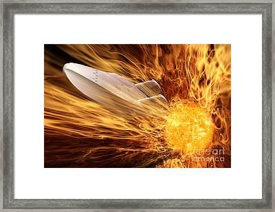 Solar Flare Framed Print by John Edwards