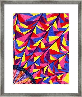 Framed Print featuring the drawing Solar Fractals by Kim Sy Ok