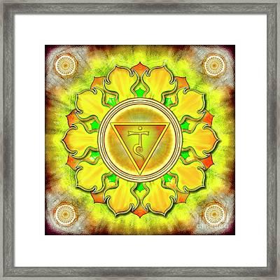 Solar Plexus Chakra - Series 3 Framed Print by Dirk Czarnota