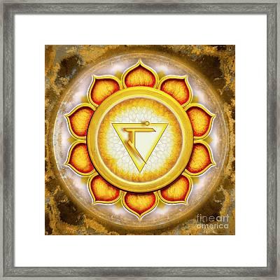Solar Plexus Chakra - Series 5 Framed Print by Dirk Czarnota