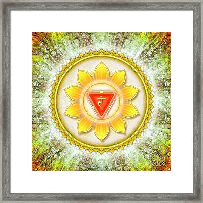 Solar Plexus Chakra - Series 6 Framed Print by Dirk Czarnota