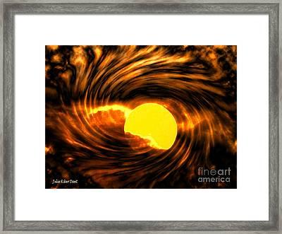 Solar Storm Framed Print by Julie Dant