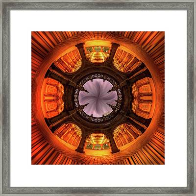 Solar Worship Framed Print by Az Jackson