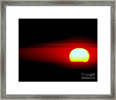 Solare Framed Print by Priscilla Richardson