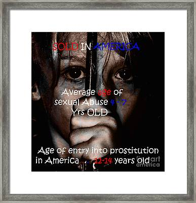 Sold In America Framed Print by Tbone Oliver