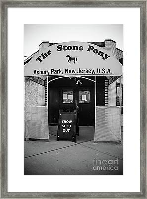 Sold Out Show - Stone Pony Framed Print