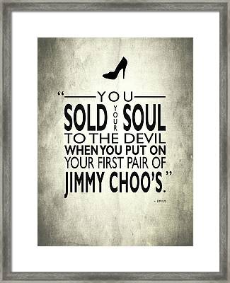 Sold Your Soul To The Devil Framed Print by Mark Rogan