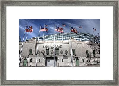 Soldier Field Framed Print by David Bearden