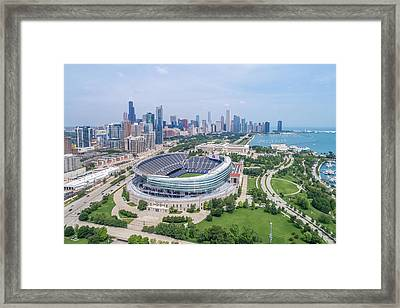 Framed Print featuring the photograph Soldier Field by Sebastian Musial