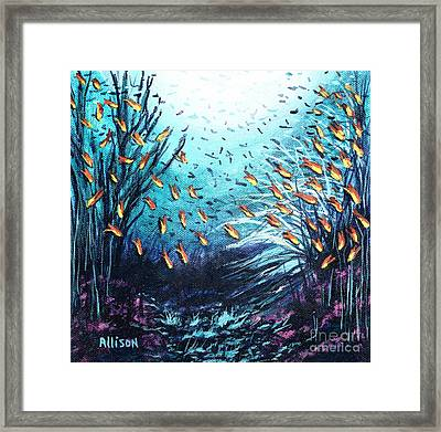 Soldier Fish And Coral  Framed Print