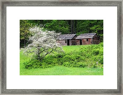 Soldier Huts  Framed Print