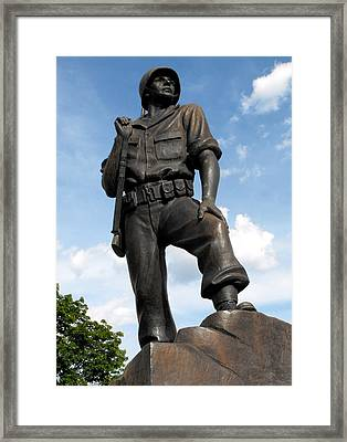 Soldier Framed Print by Jan  Tribe