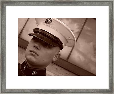 Soldier Of Fortune  Framed Print by Doug Hansen