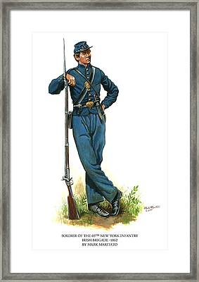 Soldier Of The 69th New York Infantry - Irish Brigade Framed Print by Mark Maritato