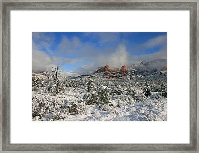 Soldier Pass Morning Framed Print