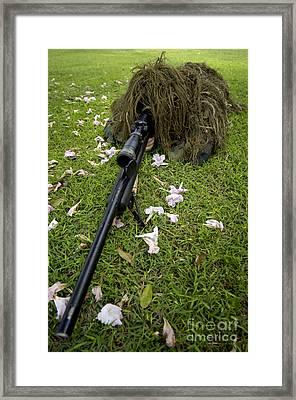 Soldier Practices Sniper Tactics Framed Print by Stocktrek Images