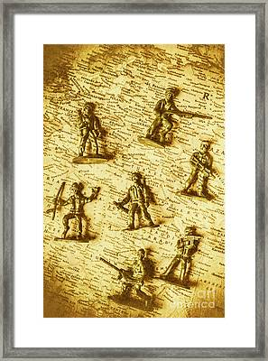 Soldiers And Battle Maps Framed Print by Jorgo Photography - Wall Art Gallery