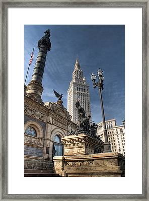 Soldiers' And Sailors' Monument Framed Print by At Lands End Photography