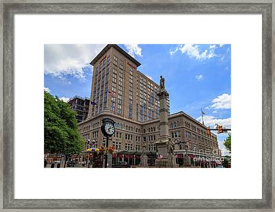 Soldiers Monument In Penn Square In Lancaster Pa Framed Print
