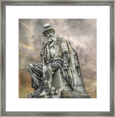 Soldiers National Monument War Statue Gettysburg Cemetery  Framed Print by Randy Steele