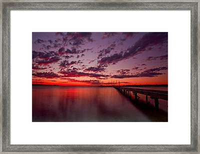 Soldiers Point Sunset Framed Print