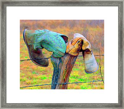Framed Print featuring the photograph Sole Mates by Joe Jake Pratt