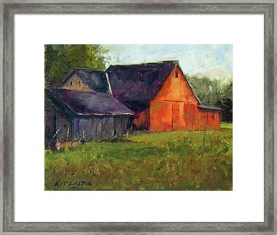 Solebury Barn And Corn Crib Framed Print