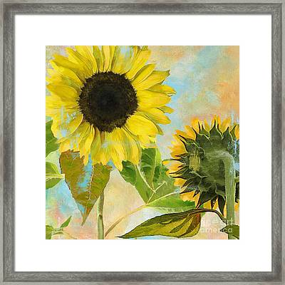 Soleil I Sunflower Framed Print by Mindy Sommers