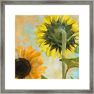 Soleil II Sunflower Framed Print by Mindy Sommers