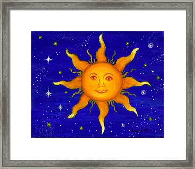 Framed Print featuring the painting Soleil by Sandra Estes