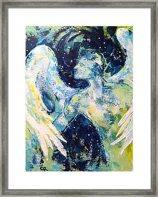 Framed Print featuring the painting Solemn Purpose by Chris Rice