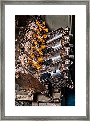 Solenoid Valves Framed Print by Christopher Holmes