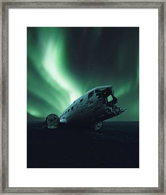 Solheimsandur Crash Site Framed Print by Tor-Ivar Naess