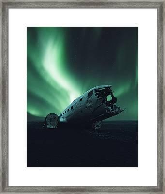 Solheimsandur Crash Site Framed Print
