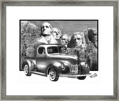 Solid As A Rock Framed Print