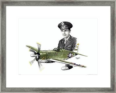 Solid Citizen - Capt. Richard Fleischer Framed Print by Trenton Hill