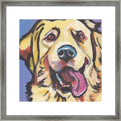 Solid Gold Framed Print by Lea S